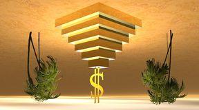 gele-dollar-op-een-piramide-woestijn-11332541